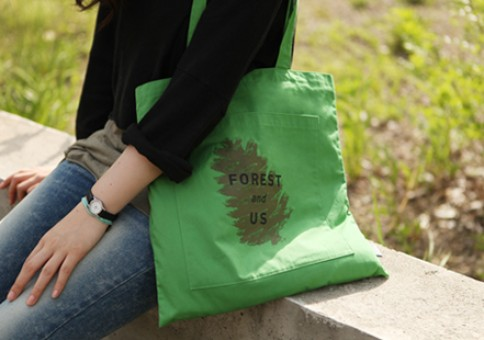 POCKET COTTON BAG green